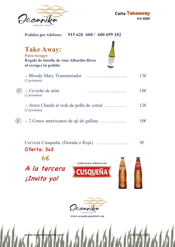 Carta Oceanika Take Away